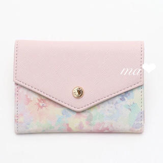 AfternoonTea - 7/20まで出品♥新品AfternoonTea 水彩柄名刺入れ ピンク