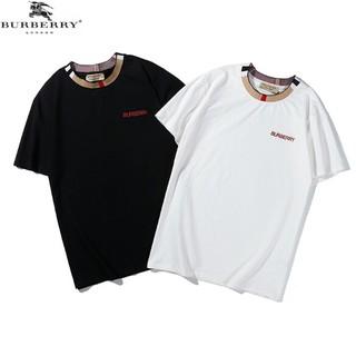 BURBERRY - 2枚セット ロゴ刺繍 男女兼用Tシャツ カジュアル