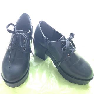 レイカズン(RayCassin)のRay Cassin レイ カズン 厚底 編み上げ パンプス ブーツ 靴 黒(ブーツ)