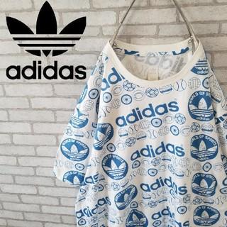 adidas - 希少 ヴィンテージ 90S アディダス tシャツ  総柄  オーバーサイズ