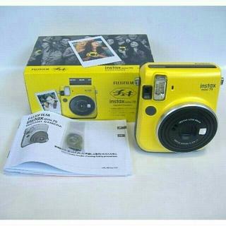 FUJIFILMチェキ instax mini70 イエロー インスタントカメラ
