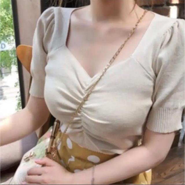 dholic(ディーホリック)のフロントシャーリングトップス レディースのトップス(カットソー(半袖/袖なし))の商品写真