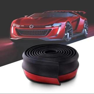 リップスポイラー フロントリップ 2.5m 黒 簡単ドレスアップ