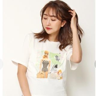 リリーブラウン(Lily Brown)の未開封🎀新品✨リリーブラウン Barbie ビーチプリントTシャツ(Tシャツ(半袖/袖なし))