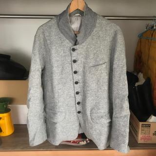 UNUSED - アンユーズドノーカラーウールジャケット