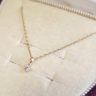 agete -  アガット ネックレス ダイヤモンド 0.03ct 40cm