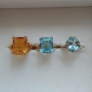 ◆トパーズ、ブルートパーズのリング 指輪 セット販売 まとめ売り