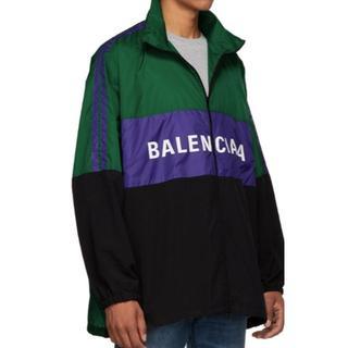 バレンシアガ(Balenciaga)のバレンシアガ 18AW新色ロゴプリントテクニカルトラックジャケット 未使用に近い(ダウンジャケット)