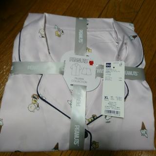 XLサイズ・ スヌーピー☆GU サテンパジャマ(半袖・ショートパンツ) ピンク
