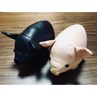 ピンク×黒ブタ ぬいぐるみセット