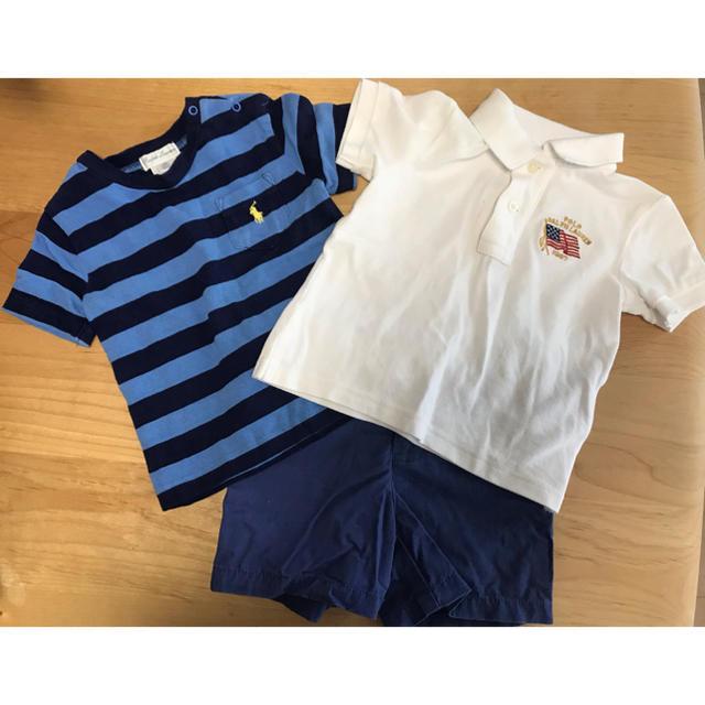 Ralph Lauren(ラルフローレン)のラルフローレン ポロシャツ パンツ キッズ/ベビー/マタニティのベビー服(~85cm)(Tシャツ)の商品写真