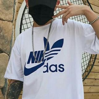 adidas - おもしろTシャツ ナキダス NIKE adidas ナイキ アディダス L