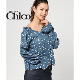 フーズフーチコ(who's who Chico)のチコ♡2way花柄袖フリルブラウス(シャツ/ブラウス(半袖/袖なし))