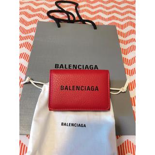 バレンシアガ(Balenciaga)の新作エブリデイ バレンシアガ ミニ レッド(折り財布)