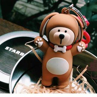 スターバックスコーヒー(Starbucks Coffee)のスタバ コーヒー ワンちゃん ベアリスタ キーホルダー 犬 キーケース 海外限定(キーホルダー)