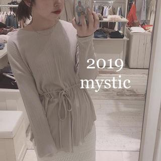 mystic - 2019SS完売レア❤︎リブギャザープルオーバー