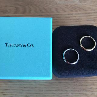 Tiffany & Co. - ティファニー バンド リング ナイフエッジ pt950と18k 2個 約6号