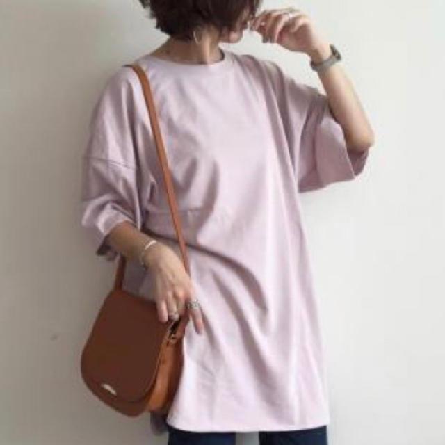 GU(ジーユー)のGU完売色【ヘビーウェイトオーバーサイズT】 レディースのトップス(Tシャツ(半袖/袖なし))の商品写真