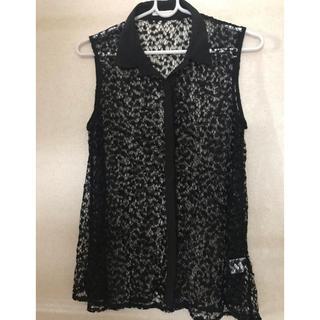 ジーユー(GU)のレースシャツ(シャツ/ブラウス(半袖/袖なし))