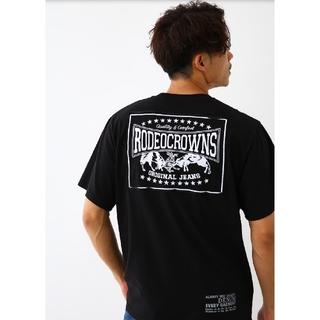ブラックXLサイズ メンズカラーパッチTシャツ