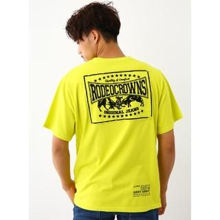 RODEO CROWNS WIDE BOWL - ライムXLサイズ メンズカラーパッチTシャツ