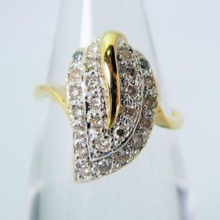 みゆき様専用K18/K18WG ダイヤモンド リング 9号[f144-4]   (リング(指輪))
