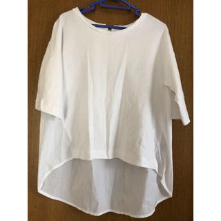 GU - GU 異素材 カットソー シャツ ブラウス Tシャツ
