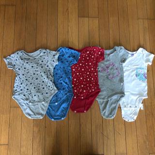 babyGAP - 半袖ロンパース 80 4枚+1枚おまけ 5枚セット