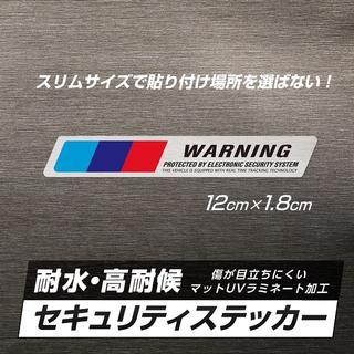 BMW - 【即OK】Mシリーズ 防犯ステッカー アルミヘアライン仕様 1枚
