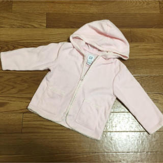 babyGAP - 【匿名配送】サイズ90★薄手のフリースパーカー★淡いピンク色★GAP