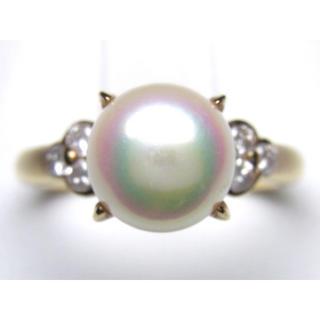 K18 あこや真珠 ダイヤモンド リング(リング(指輪))