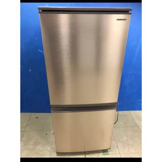 シャープ(SHARP)の★美品★ SHARP シャープ 冷蔵庫 137L 2ドア SJ-D14E-N(冷蔵庫)