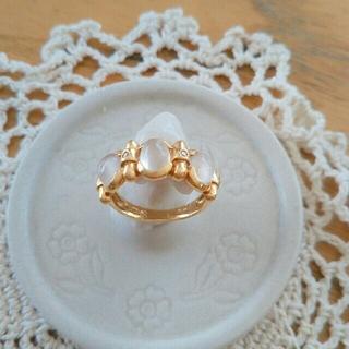 k18 パワーストーン ダイヤ入り リング(リング(指輪))