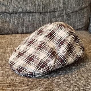 ユニクロ(UNIQLO)のチェックのハンチング【綿100%】(ハンチング/ベレー帽)