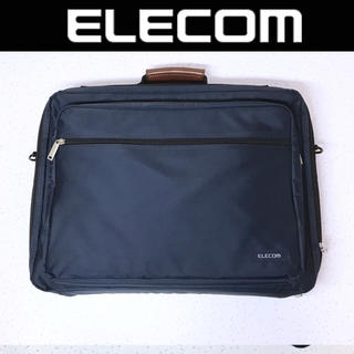 エレコム(ELECOM)のELECOM ビシネスバッグ ブリーフケース 書類鞄 ネイビー系 美品(ビジネスバッグ)