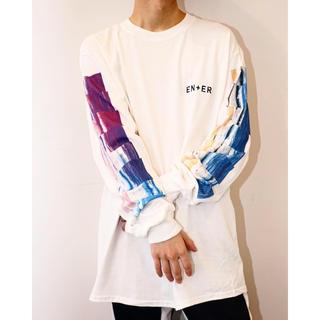 フィアオブゴッド(FEAR OF GOD)のENERロングスリーブTシャツ ロンT WAVE AHOLIC ホワイト XL(Tシャツ/カットソー(七分/長袖))