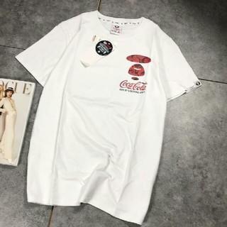 A BATHING APE - Aape&Cocacola Tシャツ 半袖 白 メンズ XL 正規品