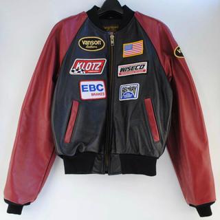 バンソン(VANSON)の美品 TJP 別注 Vanson Leather Jacket サイズ 48(ライダースジャケット)