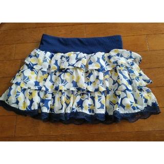 GU - g.u.花柄ミニスカート Mサイズ