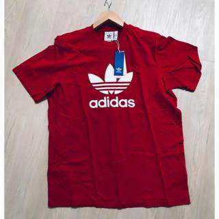 adidas - adidas originals Tシャツ 赤 L 新品未使用