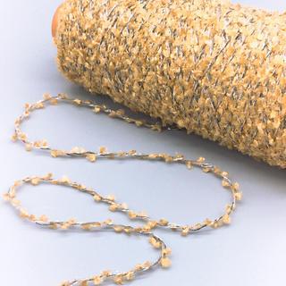 ブラシヤーンラメ加工糸 ブラウン  150g(生地/糸)