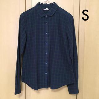 ムジルシリョウヒン(MUJI (無印良品))の無印良品  Sサイズ 長袖シャツ 丸襟 ブラックウォッチ(シャツ/ブラウス(長袖/七分))