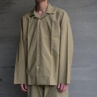 17ss AURALEE セルビッチウェザーオープンカラーシャツ