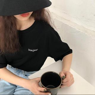 dholic - インポート ロゴ Tシャツ ブラック