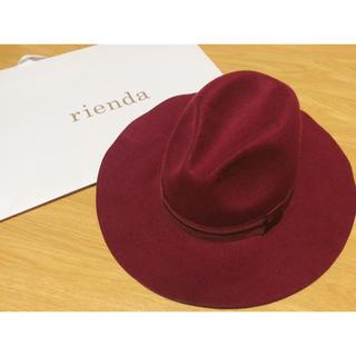 新品ボルドー  フェルト帽