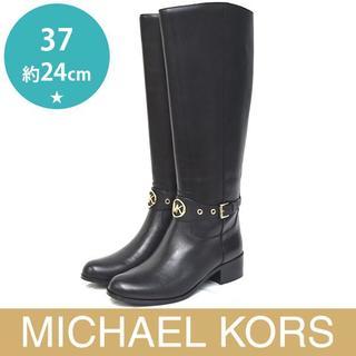 マイケルコース(Michael Kors)の新品❤️マイケルコース HEATHER メタルロゴ ロングブーツ 37(約24(ブーツ)
