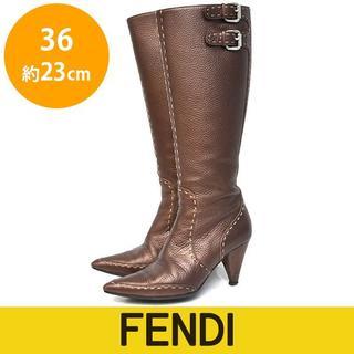 FENDI - フェンディ セレリア ステッチ ロングブーツ 36(約23cm)