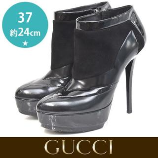 Gucci - グッチ 異素材 ショートブーツ ブーティー 37(約24cm)