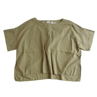 MUJI (無印良品) - 良品計画 無印良品 BIG シャツ ブラウス オーバーサイズ カーキグリーン 緑