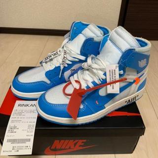 【希少サイズ 限定価格】エアジョーダン1 × オフホワイト(blue)(スニーカー)